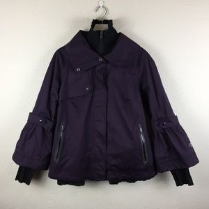 Columbia Purple Omni-Tech Waterproof Jacket